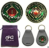 types of drugs - 1 Year NA Narcotics Anonymous 3D Raised Text, Triple Clear Coated, Premium Quality 1 Year Clean Time Medallion Without A Doubt The Most Beautiful Token In The Market Today