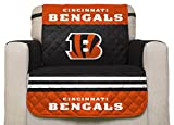 NFL Cincinnati Bengals Chair Reversible Furniture Protector with Elastic Straps, 75-inches by 65-inches