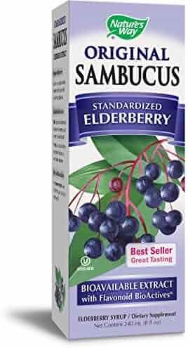 Nature's Way Sambucus Black Elderberry Original  Syrup, 8 Ounce