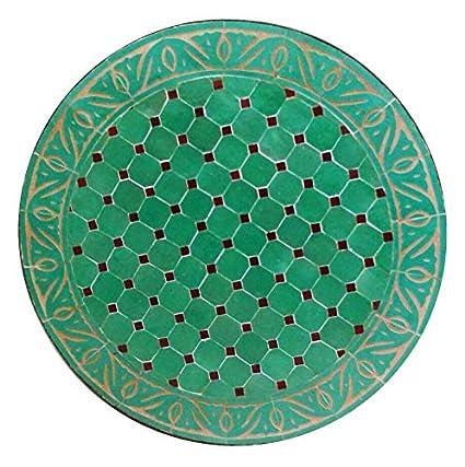 L Orient marroquí Mosaico Mesa Turquesa 60 cm   König ...