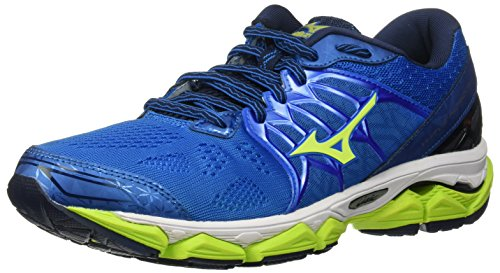 Mizuno Running Men's Wave Horizon Running Shoes, Directoire Blue/Safety Yellow/Peacoat, 8 D US