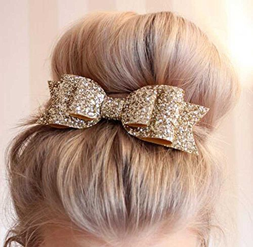 Venusvi Womens Satin Big Bow Hair Clip Barrette Accessory