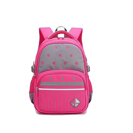 TLMY Bolso De Estudiante Mochila con Cheque para Niños Mochila (Color : Pink)