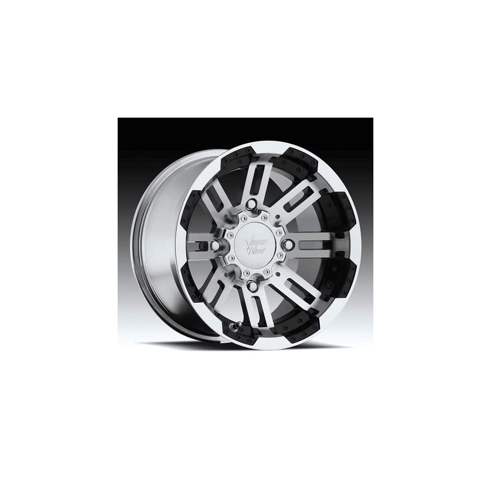 Vision Wheel Warrior 375 Gloss Black Wheel with Machined Face (17x8.5/8x165.1mm)
