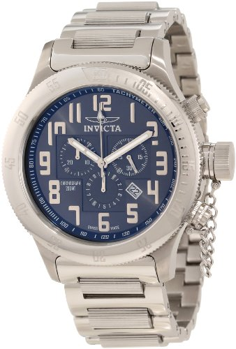 Invicta Men's 10552 Russian Diver Off Shore Chronograph Gunmetal Tone Dial Stainless Steel Watch