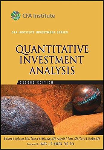 AmazonCom Quantitative Investment Analysis