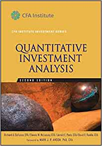quantitative investment analysis There is a strong demand for investment analysis – not only from pension funds  and  a quantitative risk analyst a quantitative investment analyst an asset.