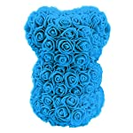 Rose-Teddy-Bear-with-Forever-Artificial-Flower-Rose-BouquetBest-GiftHoliday-Valentine-Anniversaries-Birthdays-WeddingBlue-Rose-16