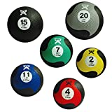 Cando Firm Fitness Medicine Balls - 6-Piece Bundle - 1 Each: 2, 4, 7, 11, 15, 20 LB