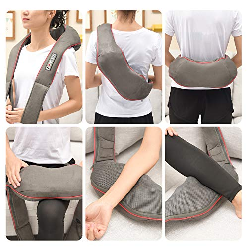 Massagers for Neck and Back, Lightweight Shoulder Massagers & Shiatsu Neck Massager with Heat for Women and Men, 4D Vibration-Deep Kneading to Relieve Pain ATMOKO by Ellesye