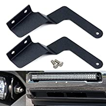 QUAKEWORLD 2005~2015 Toyota Tacoma 30-32 Inch Single/Dual Row Led Light Bar Steel Metal Grille Bumper Front Hidden Mounting Mount Brackets