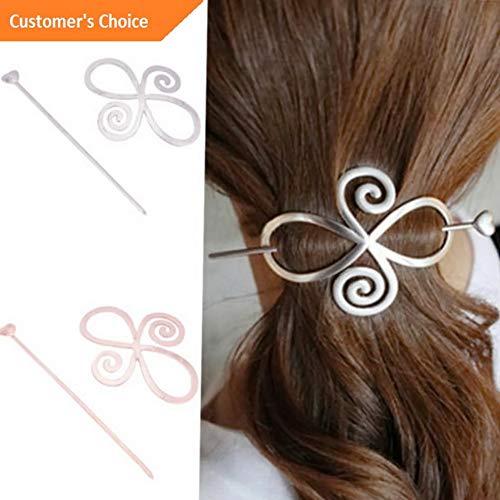 Werrox 1x Barrette Shawl Pin Hair Accessories Bun Holder Hairpin Long Hair Slide Clip | Model HRPN - 91 |