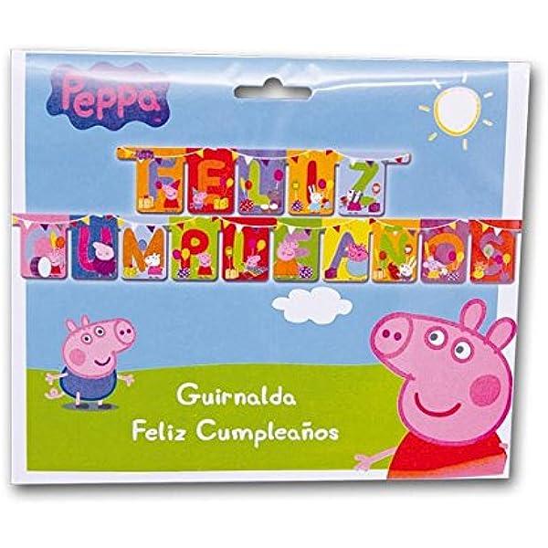 Peppa Pig - Guirnalda feliz cumpleaños (Verbetena 016000728): Amazon.es: Juguetes y juegos