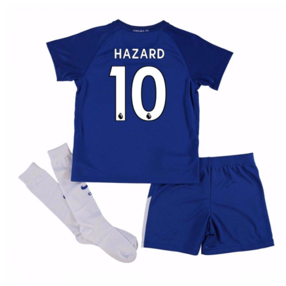2017-18 Chelsea Home Mini Kit (Hazard 10) B077XVDHXN XSB 3/4yrs (98-104cm) Blue Blue XSB 3/4yrs (98-104cm)