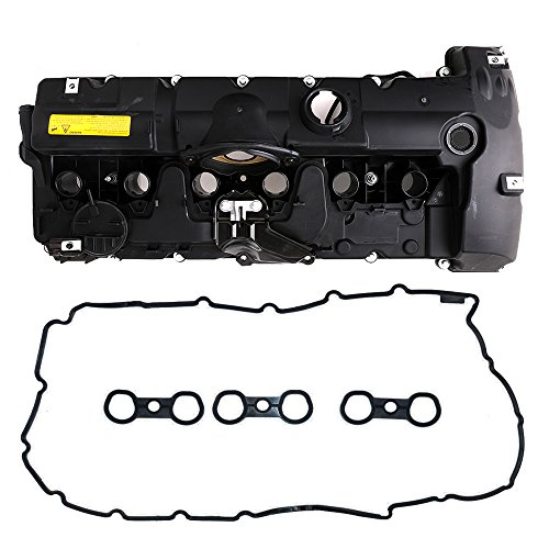 Engine Valve Cover with Gaskets and Bolts, Fit for 3.0L 2007-2013 BMW 128i 328i 328xi 528i 528xi X3 X5 Z4 3.0L N51 N52 Engine, Replace # 11127552281
