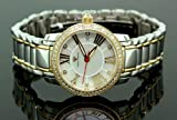 Ladies Classic Diamond Aqua Master Watch Two Tone w319d