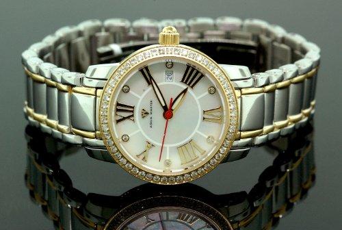 Ladies Classic Diamond Aqua Master Watch Two Tone w319d by Aqua Master