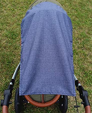 Baby Hood Sun Shade UV Protection Fits Prams and Pushchairs Black