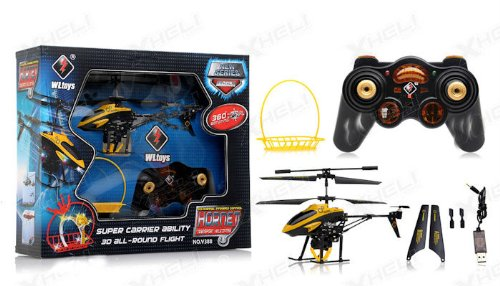Hornet 3.5 Channel Infrared RC Transport Helicopter RTF with Carrier (YELLOW OR NEXT AVAILABLE COLOR SENT AT RANDOM)