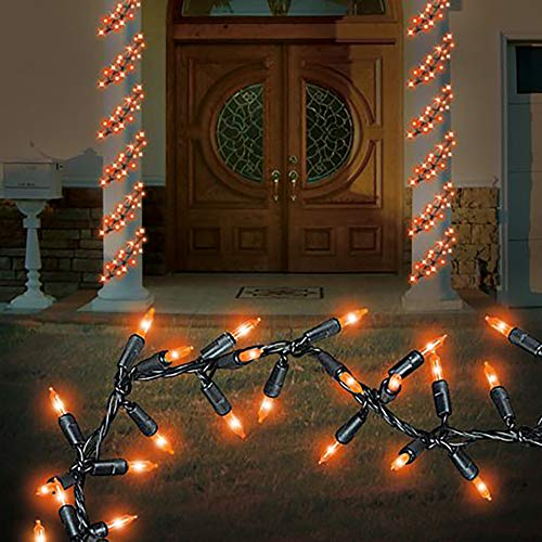 Way to Celebrate Halloween 9 ft, 150Ct Orange Garland Lights Set