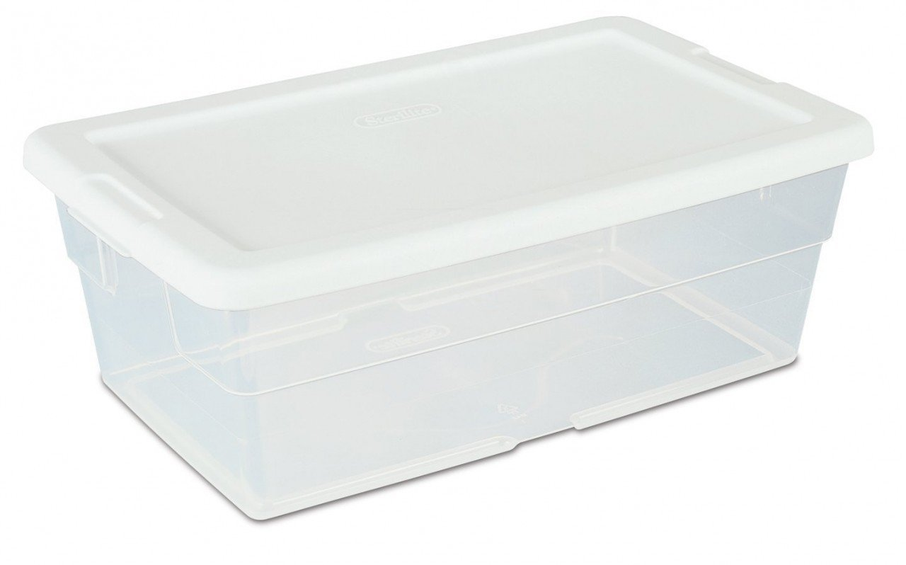 Amazon.com: Sterilite 16428012 6 Quart White Storage Box: Office Products