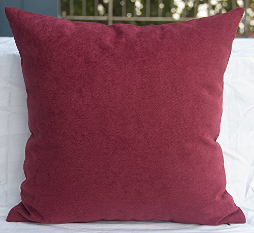 TangDepot Solid Wool-like Throw Pillow Cover/Euro Sham/Cushion Sham, Super Luxury Soft Pillow Cases - Handmade - Many Colors & Sizes Avaliable - (24