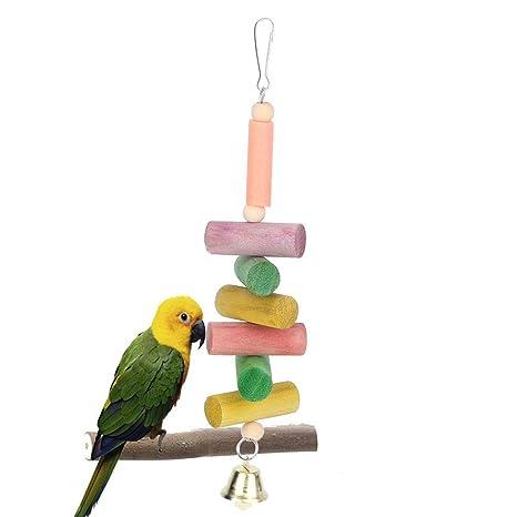 Pssopp Juguete para Masticar pájaros Juguete para Masticar Loros ...
