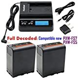 Kastar Fast Charger and BP-U66 Battery (2X) for Sony BP-U90 BP-U60 BP-U30 and PXW-FS7/FS5/X180 PMW-100/150/150P/160 PMW-200/300 PMW-EX1/EX1R PMW-EX3/EX3R PMW-EX160 PMW-EX260 PMW-EX280 PMW-F3/F3K/F3L