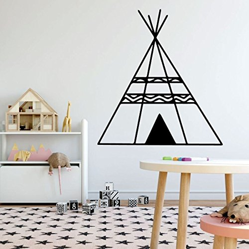 Nursery Wall Decal - Teepee - Vinyl Sticker Decor for Baby's Room, Bedroom or Play Room Decoration ()