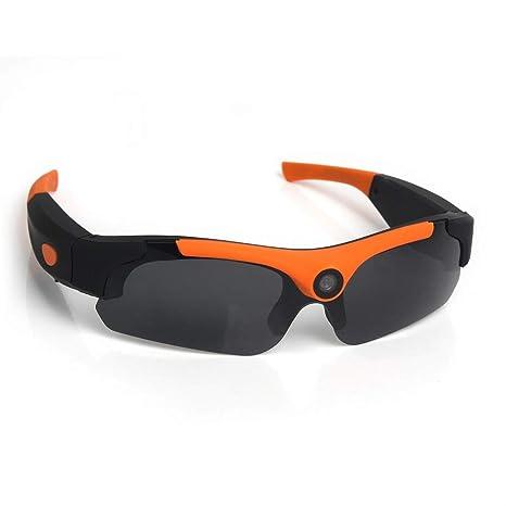 YLOVOW Gafas de Sol con Lentes de Sol Gran Angular de 120 °, WiFi HD Gafas de cámara Inteligentes Alpinismo al Aire Libre Ciclismo Deportes DV Gafas ...