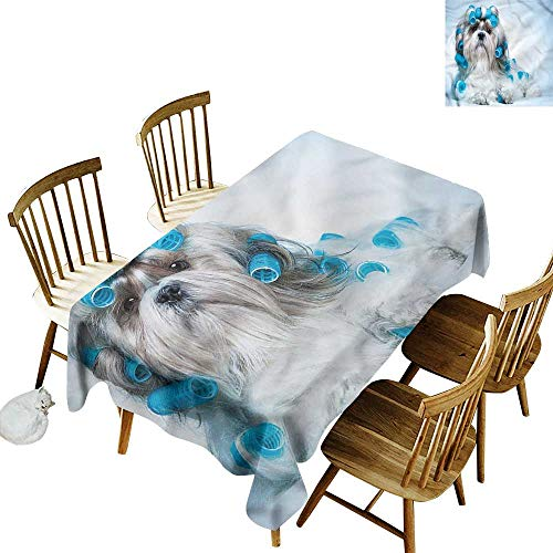 Resistant Table Cover Dog Lover Shih Tzu Dog Grooming Table Cover for Dining 60