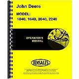 john deere 2240 parts - New Operators Manual For John Deere 2040 2240 Diesel Tractor