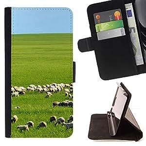 ForSamsung Galaxy S3 MINI i8190 (NOT S3) Case , De China Prairie- la tarjeta de Crédito Slots PU Funda de cuero Monedero caso cubierta de piel