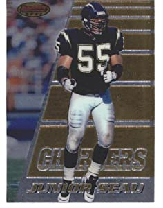 Junior Seau 1996 Bowman's Best Football Card #50 (San Diego Chargers)