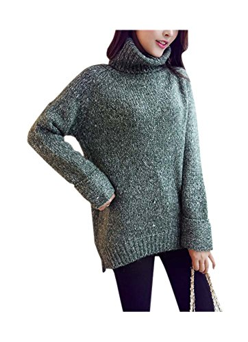 ARJOSA-Womens-Cable-Knitted-Stretchy-Turtleneck-Long-Sleeve-Casual-Pullover-Sweater