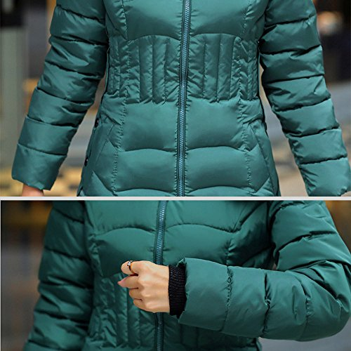 Veste Outwear Slim Coton Hiver Manteau Vert Trench Chaud Magiyard Manteau Mode Longue Femmes UIHHq6