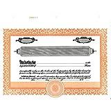 Short Form Orange Stock Certificate - Pack of 100