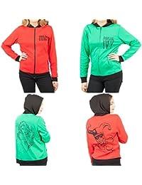 Comics Harley Quinn & Poison Ivy Reversible Womens Hoodie Jacket