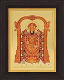 Avercart Lord Balaji / Tirupati Balaji / Venkateswara / Lord Vyankatesh Poster 5x7 inch with Photo Frame (13x18 cm framed)