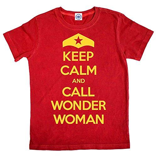 Hank Player 'Keep Calm & Call Wonder Woman' Girl's T-Shirt