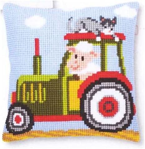 Vervaco diseño de Tractor Kit para coser cojín de punto de ...