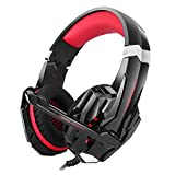 Bengoo Gaming Headset for PS4 Professional 3.5mm PC LED Light Game Bass Headphones Stereo Noise Isolation Over-ear Headset with Mic Microphone for PS4 Laptop Computer and Smart Phone by Bengoo