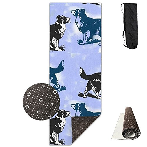 OU2yFP Border Collies Comfort Foam Yoga Mat for Exercise, Yoga, and ()