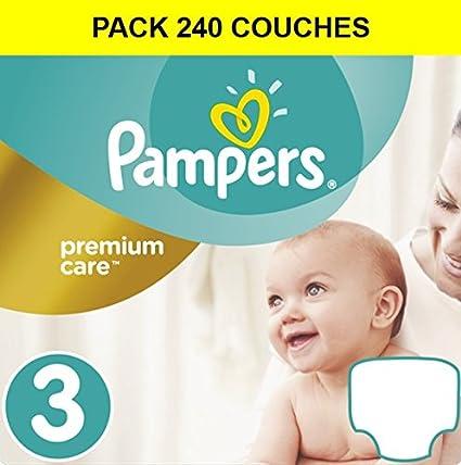 Pañales Premium Care MIDI 3 Gr, 4-9 kg Pack de ahorro 180 pañales