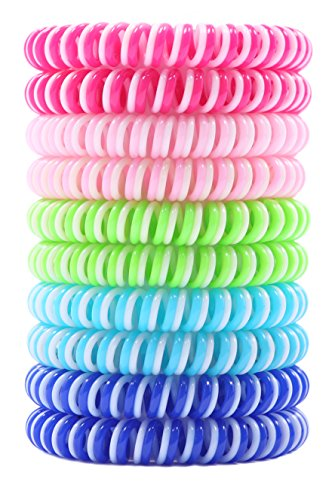 Liquid Pet [NEW 2018] Mosquito Repellent Bracelets, Citronella Bug Bands, use while Camping, Hiking, Outdoors, BBQs (10 Pack)