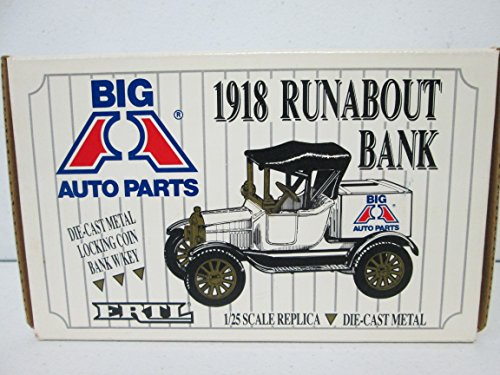 1918 Auto (ERTL Big A Auto Parts 1918 Runabout Bank 1:25 die-cast metal)