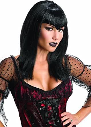 Rubie's Costume Glitter Vamp Adult Costume Wig, Black, One Size