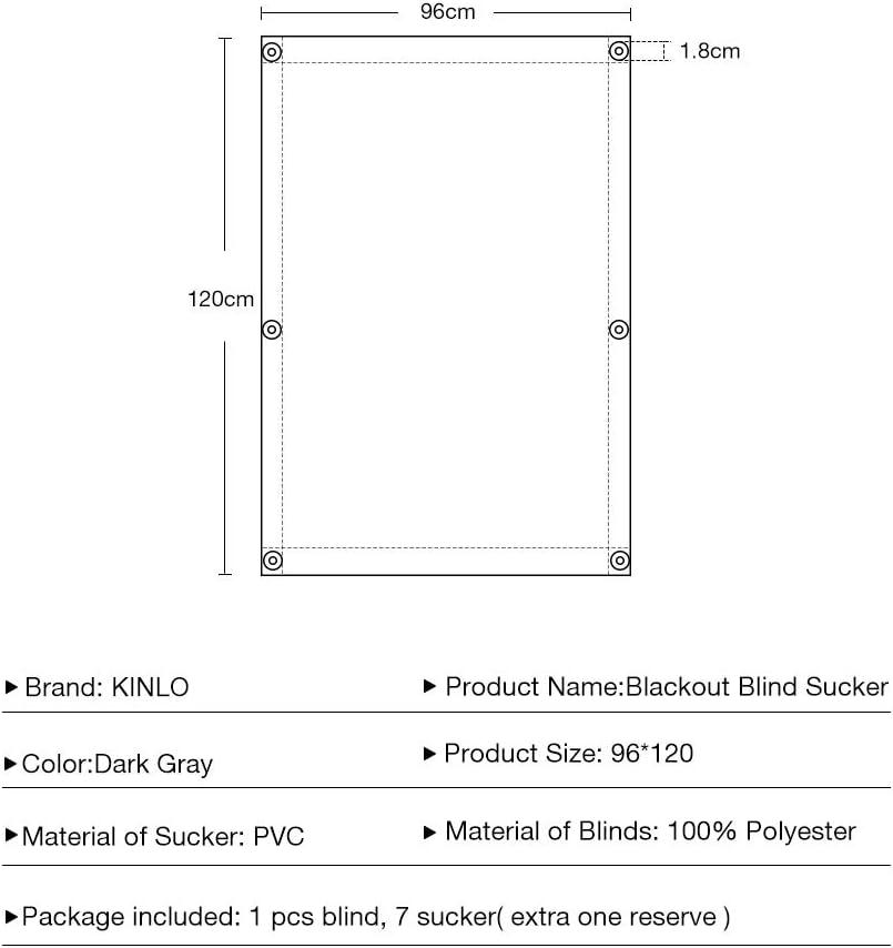 KINLO Store Enrouleur Occultant Opaque 38 x 75 cm pour Fen/êtres de Toit Velux avec Ventouses Isolation Thermique sans Per/çage et Protection UV Noir