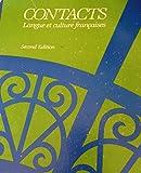 Contacts : Langue et Culture Francaises, Valette, Jean-Paul and Valette, Rebecca M., 0395293286