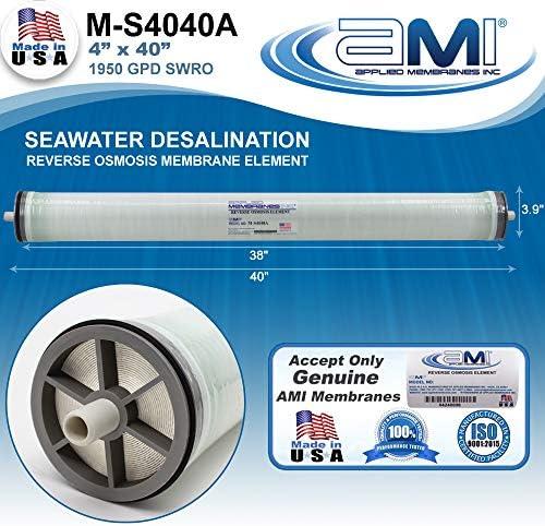 4 x 40 Seawater RO Membrane 4 x 40 M-S4040A Watermaker Replacement Membrane | 1950 GPD Replaces SW30-4040